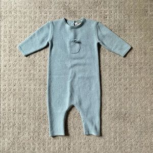 Bonpoint Cashmere Jumpsuit in Blue | 12 Mo (NWT)